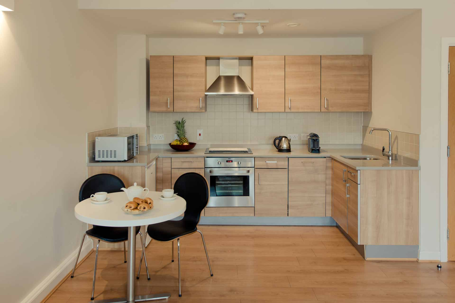 Kitchen area one bed apartment PREMIER SUITES PLUS Glasgow George Square